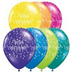 11 inch-es Boldog Születésnapot Stars Fantasy Lufi
