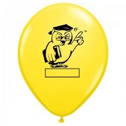 11 inch-es Bagoly Feliratozható Yellow Ballagási Lufi