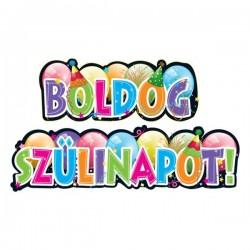Boldog Szülinapot Feliratú Parti Banner - 148 cm x 27 cm