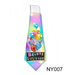 Vicces nyakkendő Születésnapra - Színes,lufis, Boldog születésnapot felirattal