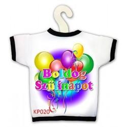Boldog Születésnapot feliratú lufis üvegpóló