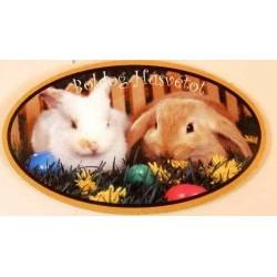 Húsvéti Hűtőmágnes, ovális 9 x 5,5 cm