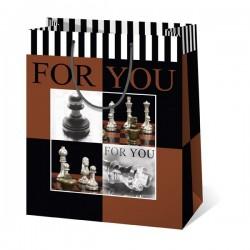 Kicsi sakkmintás ajándéktasak 11,5x6,5x14,5 cm