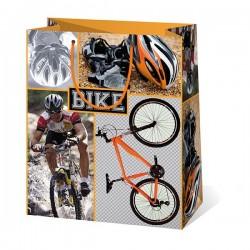 Kicsi, biciklis ajándéktasak 11,5x6,5x14,5 cm