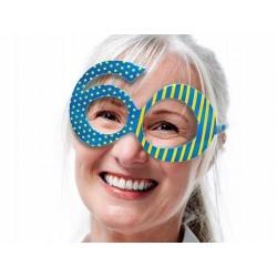 Kék 60-as Szülinapi Parti Szemüveg