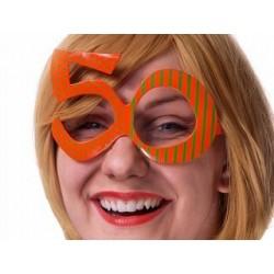 Sárga 50-es Szülinapi Parti Szemüveg