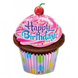 14 inch-es Muffin - Birthday Frosted Cupcake Szülinapi  Fólia Lufi