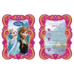 Frozen - Jégvarázs Parti Meghívó és Boríték - 6 db-os