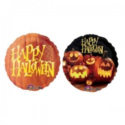 18 inch-es Happy Halloween Tökmintás Fólia Lufi
