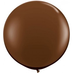 1 m-es Csokoládébarna, Chocolate Brown Kerek Latex Lufi