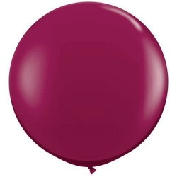 1 m-es Bordó, Sparkling Burgundy Kerek Latex Lufi