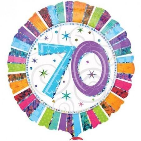 18 inch-es Radiant Birthday 70-es Születésnapi Fólia Lufi