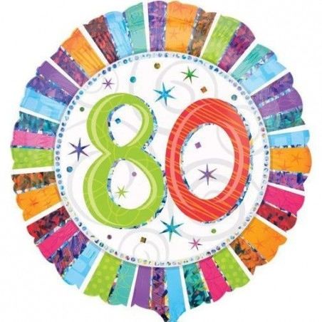 18 inch-es Radiant Birthday 80-as Születésnapi Fólia Lufi