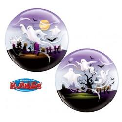 22 inch-es Spooky Ghost - Szellemek Bubble Lufi Halloweenre