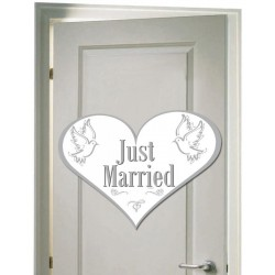 Just Married Ajtódekoráció