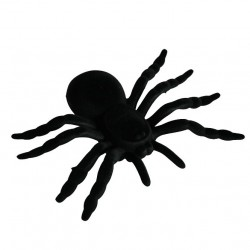 Fekete Dekorációs Pók - 20 cm