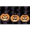 Világító Tökfejek Halloween Dekorációs Lampionok, 3 db-os