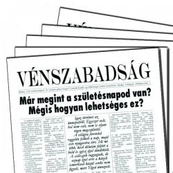 Vicces Szülinapi Újság - Vénszabadság