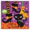 Spooky Boots Parti Szalvéta Halloweenre - 33 cm x 33 cm, 16 db-os