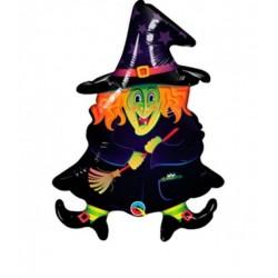 Boszi alakú - Wacky Witch - Fólia Lufi Halloweenre (5 db/csomag)
