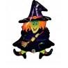 Boszi alakú - Wacky Witch - Fólia Lufi Halloweenre
