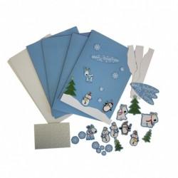 Karácsonyi Meghívó Kártya Parti Szett
