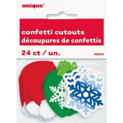 Karácsony Mintás Konfetti Dekoráció, 24 db-os