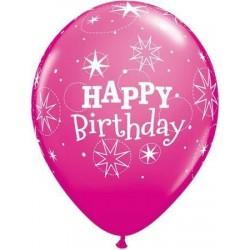 11 inch-es Birthday Sparkle Wild Berry Szülinapi Lufi (6 db/csomag)