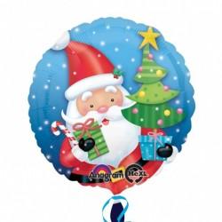 18 inch-es Mikulás Ajándékokkal - Santa with Tree Karácsonyi Fólia Lufi