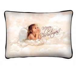 Karácsonyi Párna Macis, Táblával a Kezében, Békés, Boldog Karácsonyt!