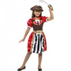 Kalózkapitány Jelmez Lányoknak M-es, (7-9 év)