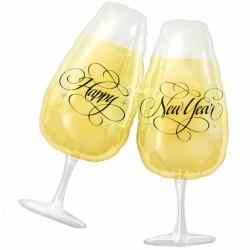 Szilveszteri Fólia Lufi New Years Toasting Glasses