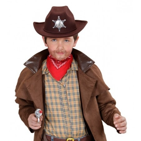 Barna cowboy kalap esüst sheriff csillaggal ... 35ff3dfe5c