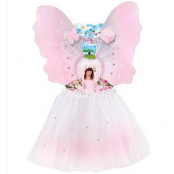 Pillangó jelmez szett, tutu szoknya, szárny és fejdísz