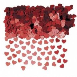 Piros Mini Szíves Konfetti - 14 gramm