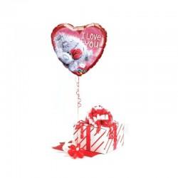 Valentin Napi Lufi Tatty Teddy I Love You Szerelmes Fólia Lufi 46 cm-es Díszdobozban