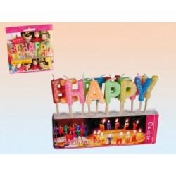 Happy Birthday Betű Formájú Tortagyertya