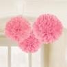 Pom-pom dekoráció rózsaszínű 30 cm-es