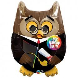 Ballagási Lufi 34 inch-es Bagoly - Grad Owl