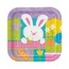Nyuszis - Patchwork Bunny Húsvéti Parti Tányér - 18 cm, 10 db-os