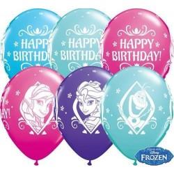 28 cm-es Frozen születésnapi- Jégvarázs gumi lufi