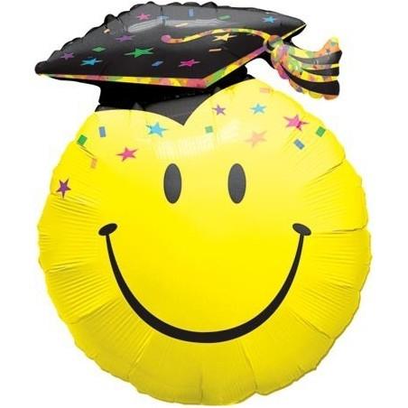 Ballagási Lufi 36 inch-es Smile Face Party Grad