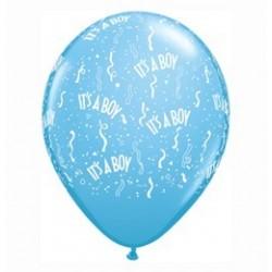 5 inch-es It is A Boy-A-Round Pale Blue Lufi Babaszületésre