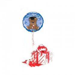 Good Job feliratos, macis, kék ballagási fólia lufi 46 cm-es díszdobozban