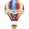 Boldog Szülinapos hőlégballonos fólia lufi 107 cm