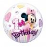 Minnie Mouse első szülinapi bubbles lufi 56 cm-es