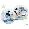 Mickey Mouse első szülinapi bubbles lufi 56 cm-es