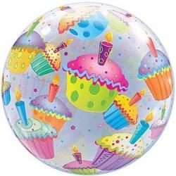 Muffin mitás bubbles lufi 56 cm-es