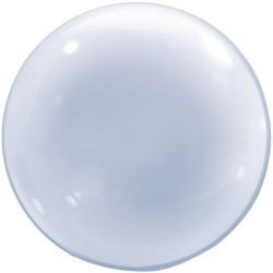Átlátszó deco bubbles lufi 51 cm-es