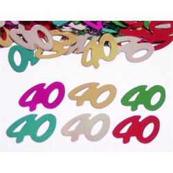 Vegyes színű 40-es Számos Konfetti - 14 gramm